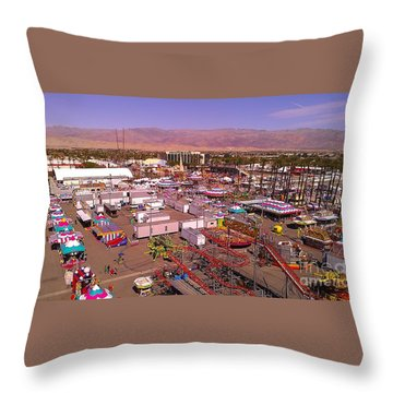 Throw Pillow featuring the photograph Indio Fair Grounds by Chris Tarpening