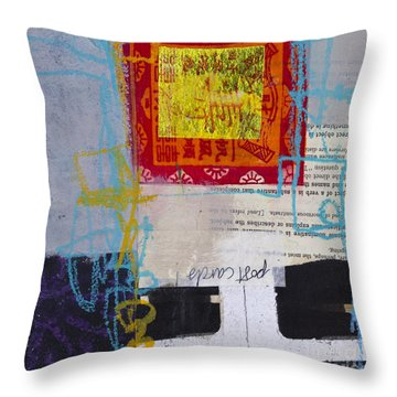 Indirect Object Throw Pillow by Elena Nosyreva