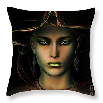 Throw Pillow featuring the digital art Individuality by Shadowlea Is
