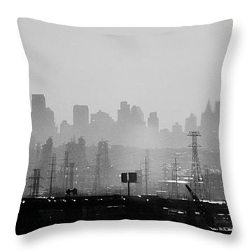 Industrial And Corporate Throw Pillow by James Aiken