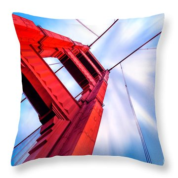 Industrial Boom Throw Pillow