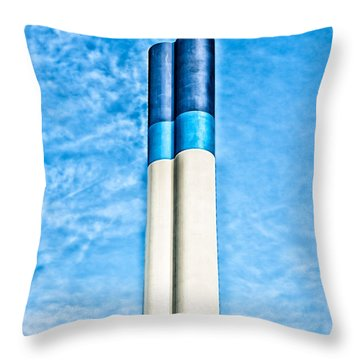Industrial Chimney Throw Pillow by Hans Engbers
