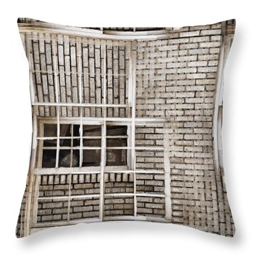 Industrial District Abstract Number 1 Throw Pillow