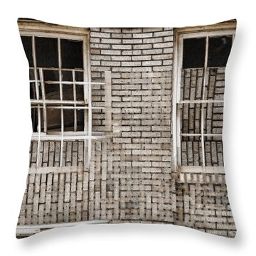 Industrial District Abstract Number 2 Throw Pillow