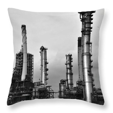 Throw Pillow featuring the photograph Industrial Forest Rotterdam by Maja Sokolowska