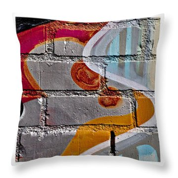 Industrial Graffiti Throw Pillow by Art Block Collections