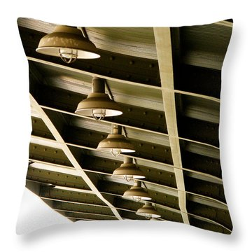 Industrial Lights Throw Pillow by Randi Kuhne