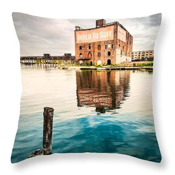 Industrial - Old Buildings - Build To Suit Throw Pillow by Gary Heller