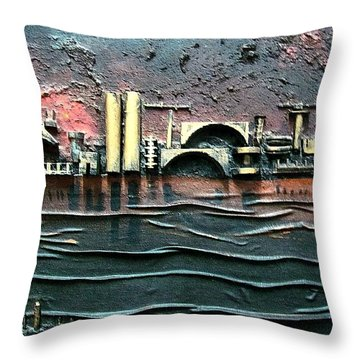 Industrial Port-part 2 By Rafi Talby Throw Pillow by Rafi Talby