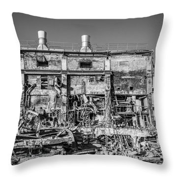 Throw Pillow featuring the photograph Industrial Ruins by Gary Gillette