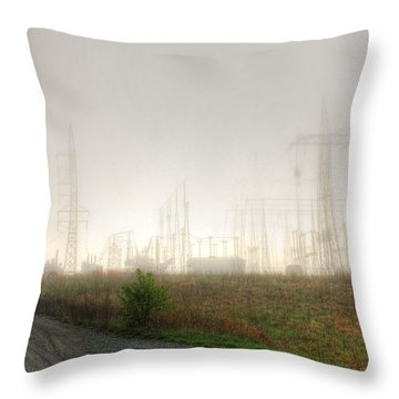 Industrial Skeleton Throw Pillow by Dan Stone