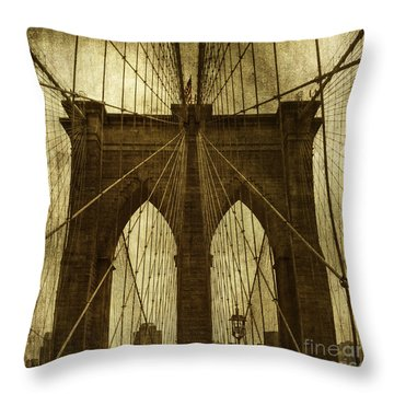 Industrial Spiders Throw Pillow by Andrew Paranavitana