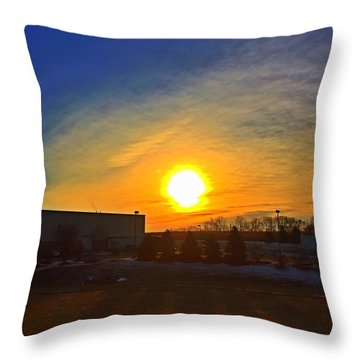 Industrial Sunrise Throw Pillow