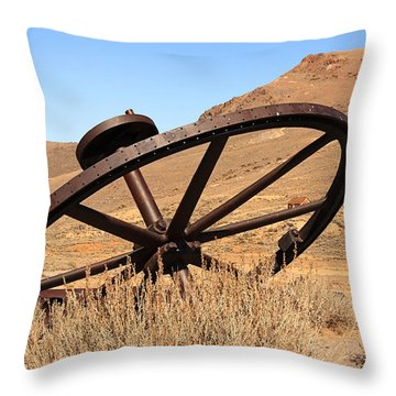 Industrial Wheel Throw Pillow