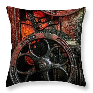 Industrial Wheels Throw Pillow