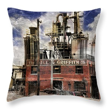 Industrial Work Throw Pillow by Davina Washington