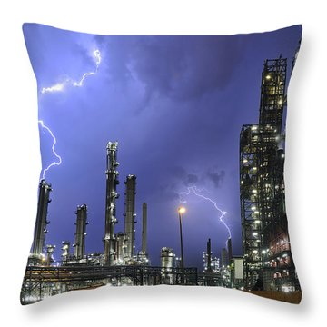 Throw Pillow featuring the photograph Lightning by Arterra Picture Library