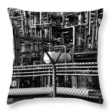 Throw Pillow featuring the photograph Industry by Maja Sokolowska