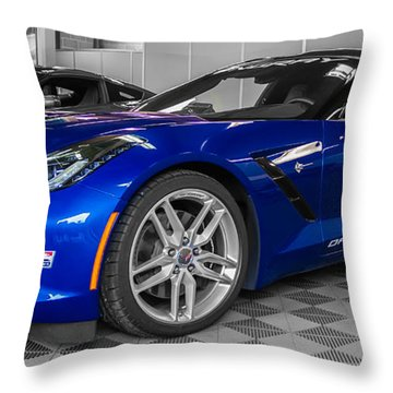 Indy 500 Corvette Pace Car Throw Pillow