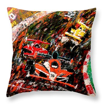 Indy 500  Throw Pillow by Mark Moore