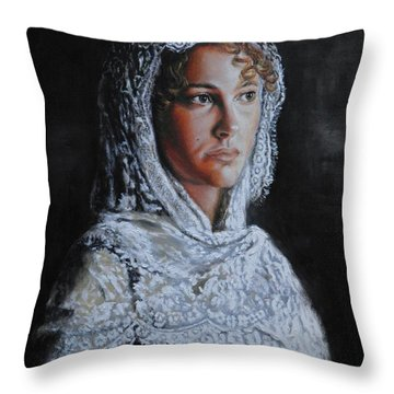 Ines. Throw Pillow
