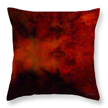Inferno - Abstract - Art  Throw Pillow by Ann Powell