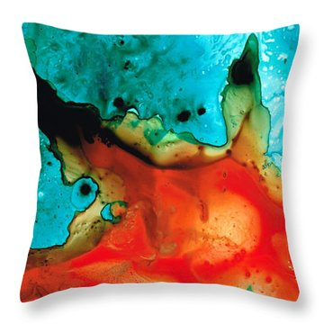 Infinite Color - Abstract Art By Sharon Cummings Throw Pillow by Sharon Cummings