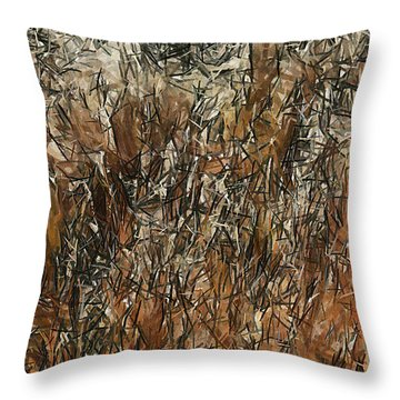 Infinite Meadows Throw Pillow by Ayse Deniz