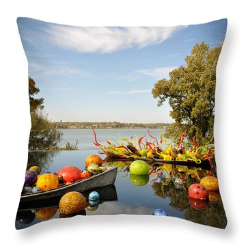 Infinity Boats 2 Throw Pillow by Cheryl McClure