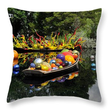 Infinity Boats Throw Pillow