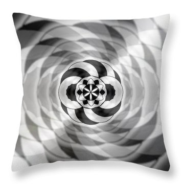 Throw Pillow featuring the drawing Infinity Bonded by Derek Gedney
