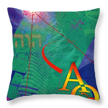 Infinity Throw Pillow by Chuck Mountain