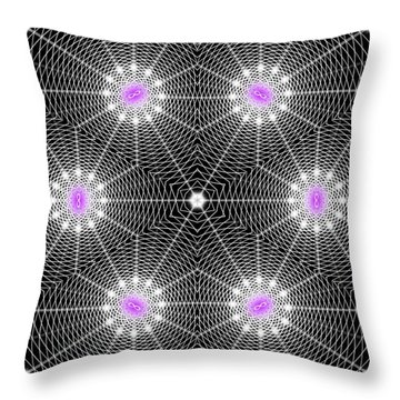 Infinity Grid Six Throw Pillow