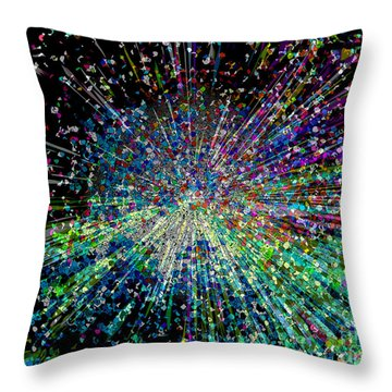 Information Explosion Throw Pillow by Mariarosa Rockefeller