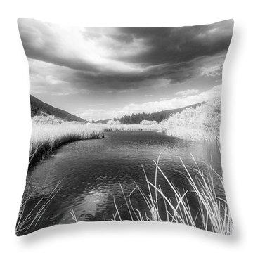 Infrared Green Creek Throw Pillow