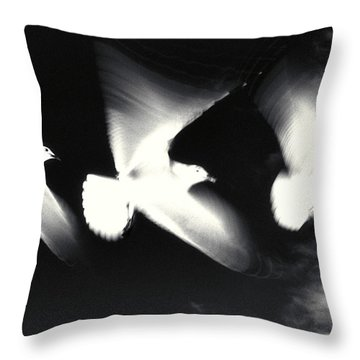 Infrared Gulls Throw Pillow by Jerry McElroy