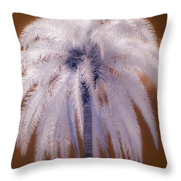 Infrared Palm Tree Throw Pillow