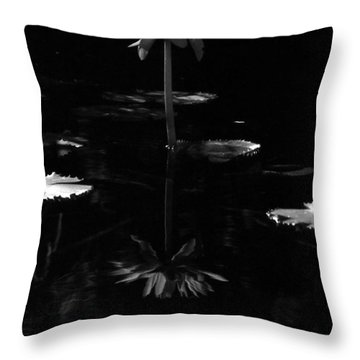 Infrared - Water Lily 03 Throw Pillow by Pamela Critchlow