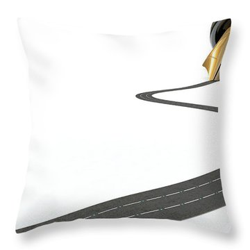 Infrastructure Pen And Road Throw Pillow by Allan Swart