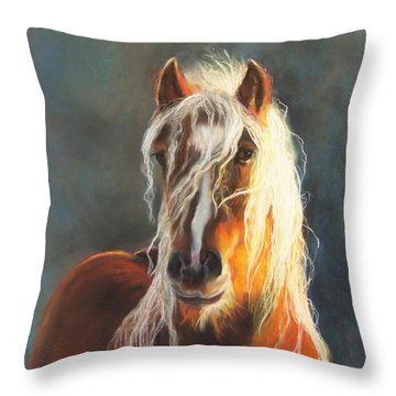 Throw Pillow featuring the pastel Ingalyl by Karen Kennedy Chatham