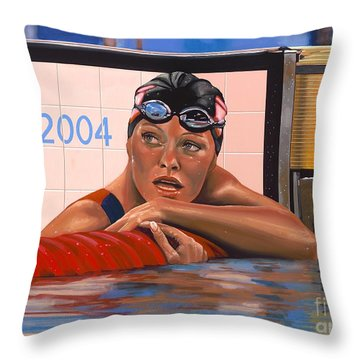 Swimmers Throw Pillows