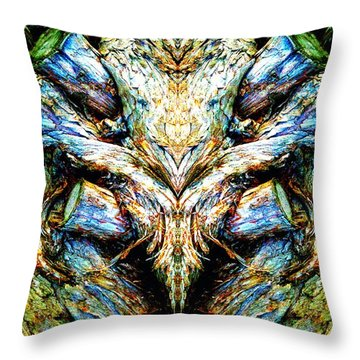 Ingrained Wings Throw Pillow