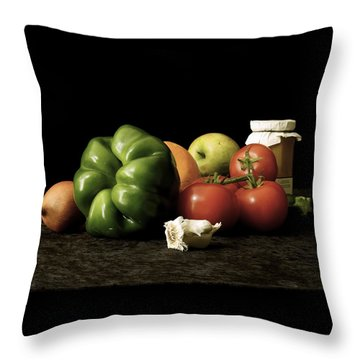 Throw Pillow featuring the photograph Ingredients by Elf Evans