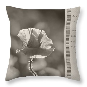 Ingredients For Life  Throw Pillow by Lisa Knechtel