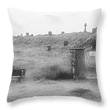 Inis Oirr Cemetery Throw Pillow by Tara Potts