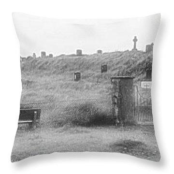 Inis Oirr Cemetery Throw Pillow