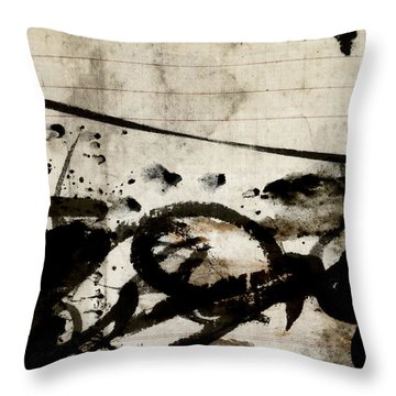 Ink And Paint On Vintage Ledger Paper Throw Pillow
