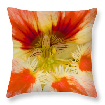 Throw Pillow featuring the photograph Ink Blot by Heidi Smith