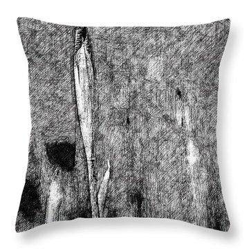 Ink Iris Throw Pillow by Yevgeni Kacnelson