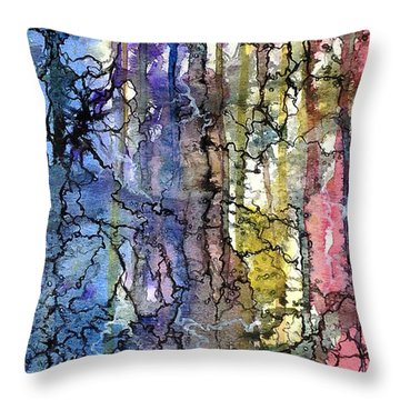 Ink Lines Throw Pillow